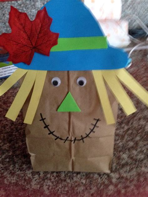 scarecrow paper bag craft paper bag scarecrow scout crafts