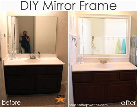 how do you frame a bathroom mirror new bathroom counters and a question
