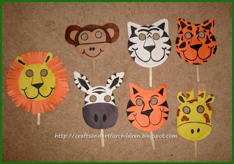 cheetah crafts for animal masks craft hooked on the book