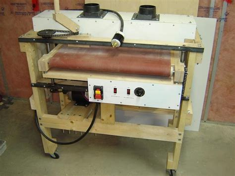 sanders woodworking a thickness drum sander i built by mreza