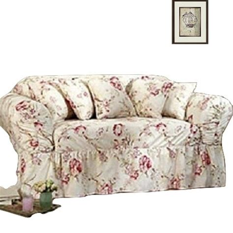 floral sofa slipcovers shabby sofa slipcover floral antique sure fit box or