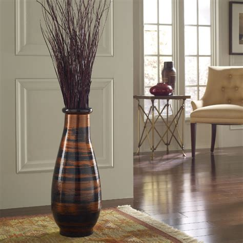 floor and home decor copperworks floor vase modern home decor