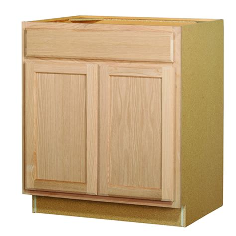 lowes cabinets unfinished shop kitchen classics 35 in x 30 in x 23 75 in unfinished oak sink base cabinet at lowes