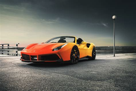 Car Wallpaper Orang by Orange Sports Car 488 Spider Wallpapers And Images