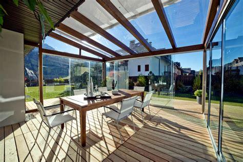 Bathroom Vanity Design Ideas glass veranda and wooden beams interior design ideas
