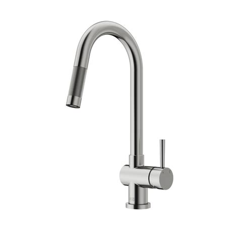 stainless steel pull kitchen faucet vigo gramercy single handle pull sprayer kitchen faucet in stainless steel vg02008st the