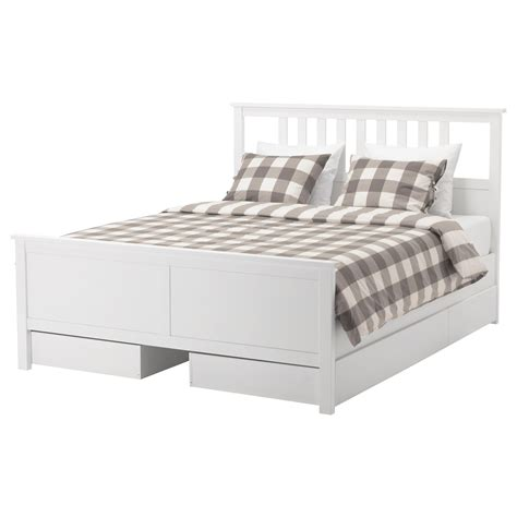 Storage Bed Ikea by Hemnes Bed Frame With 4 Storage Boxes White Stain Lur 246 Y