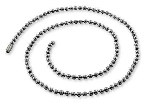 bead chains stainless steel 22 quot dogtag bead chain necklace 2 5mm