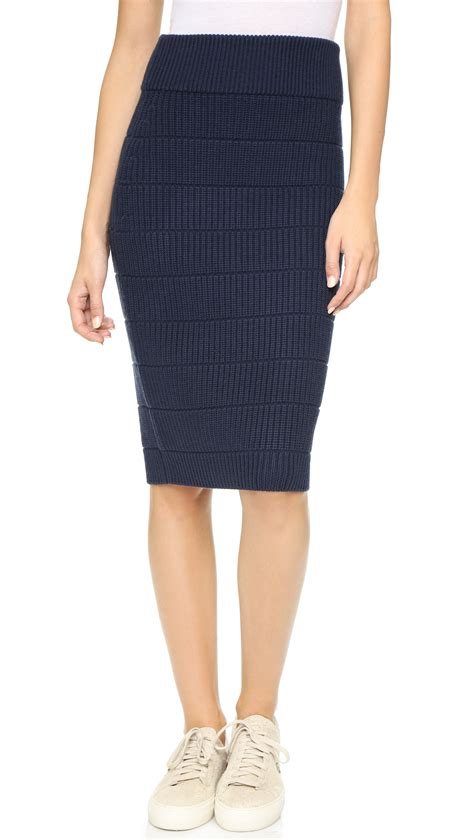 knit skirts marc by marc compact wool sweater knit skirt