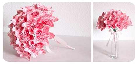 origami flower wedding bouquet pics for gt how to make origami flower bouquet