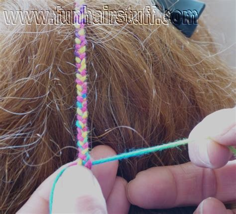 how to braid hair with string and plaited yarn braids