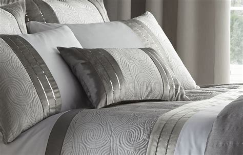 silver bedding set silver grey luxury duvet quilt cover bedding bed set or