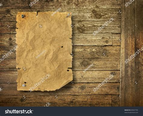 woodworker wanted empty west wanted poster on wooden wall stock