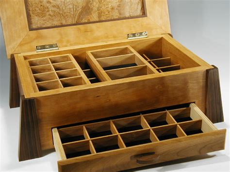 jewelry box out of wood handcrafted wood box and contemporary jewelry box in one