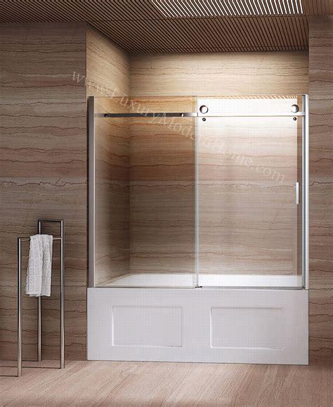 bathtubs with glass shower doors priscus frameless glass sliding door bathtub