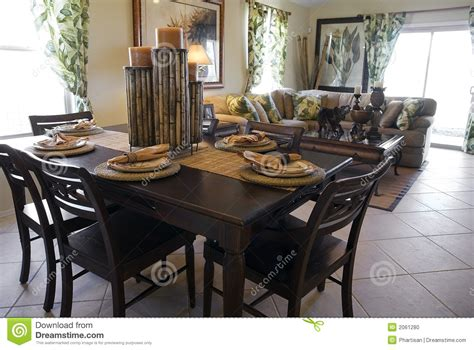 Free Interior Design For Home Decor model home interior design stock photo image of table