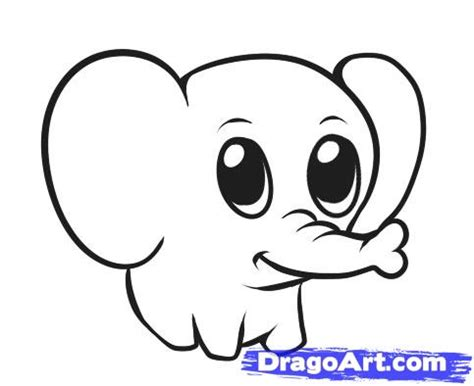 animals easy how to draw a simple elephant step by step safari