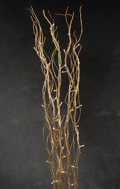 lit willow branches lighted gold willow branches 39in