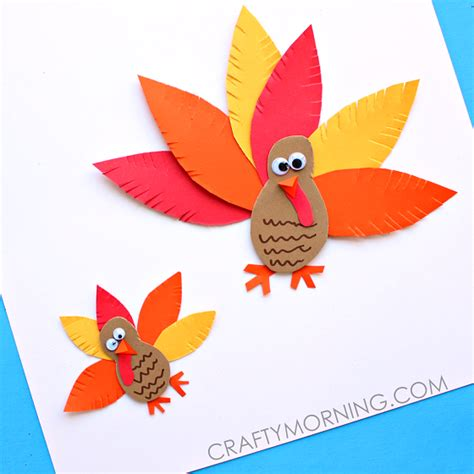 easy paper crafts for children simple paper turkey craft for crafty morning