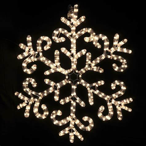 snowflake rope lights warm white led rope light snowflake