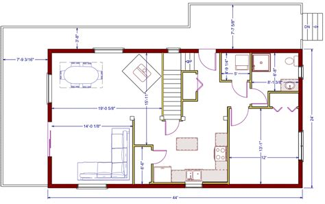basement in suite floor plans 1056 sqft 24 x44 b new