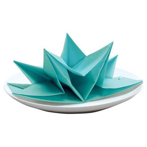 origami with napkins origami napkin in aqua craft ideas