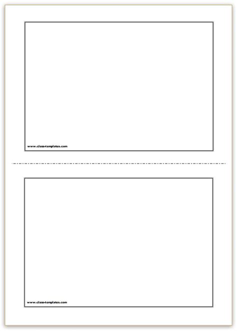 card templates flash card template