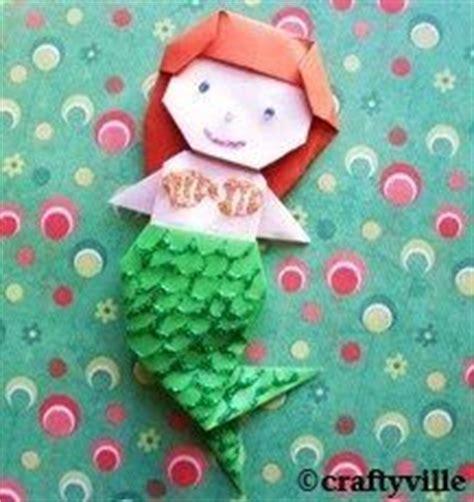 how to make an origami mermaid origami mermaid folding mermaid birthday