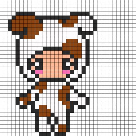 kawaii perler bead patterns person in costume perler bead pattern bead