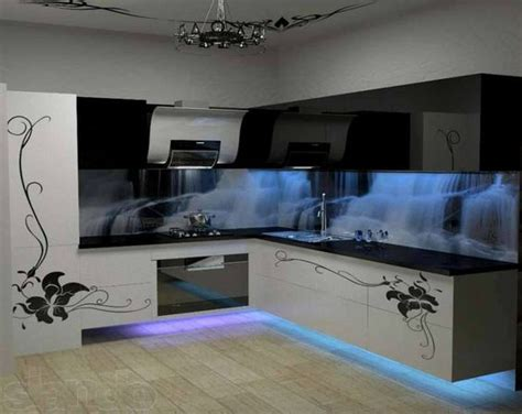 amazing kitchen designs amazing kitchen design with cool cold blue neon lights