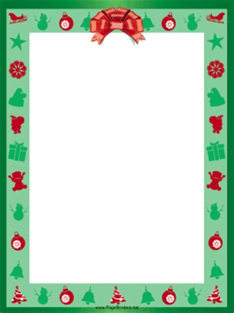red ribbon christmas border