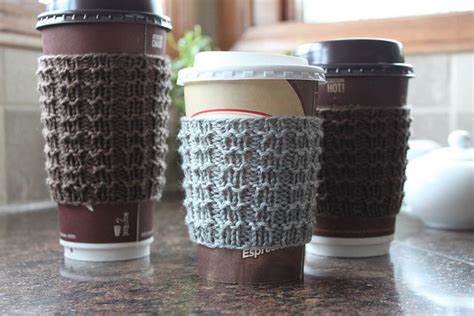 free knitting pattern coffee cup sleeve boxy cozy coffee cup sleeve knitting pattern by
