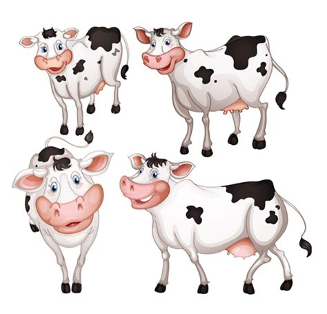 cow design different dairy cow design vector graphics 03