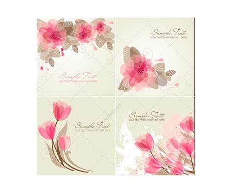 greeting cards for vector greeting cards with flowers floral card templates