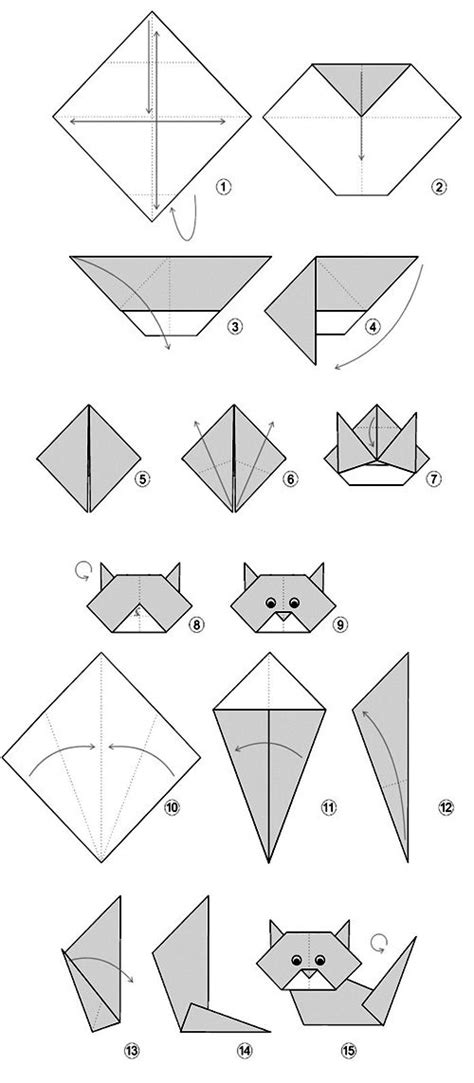 how to origami cat diagrama easy cat orgami for