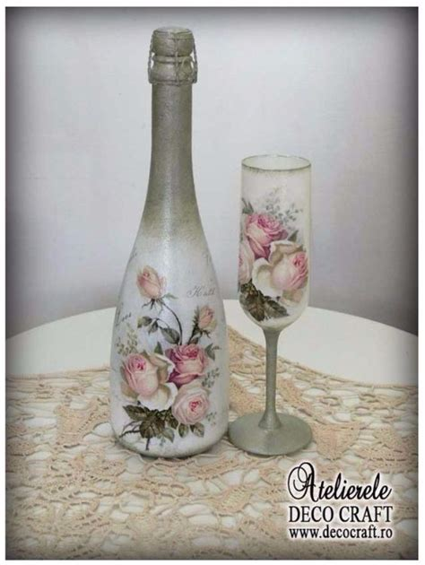 decoupage glass decorate glass bottles with decoupage 7