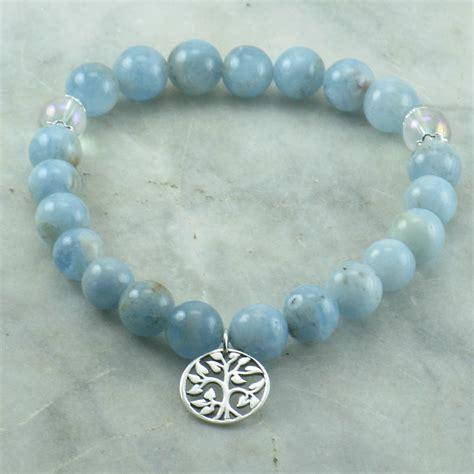 aquamarine mala winter mala bead bracelet for pitta 21 mala