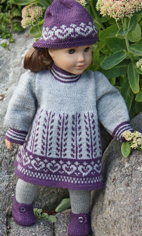 dolls knitted clothes patterns lise doll clothes pattern