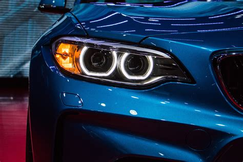 Car Lights Wallpaper by Car Bmw M2 Headlights Blue Lines Kidney Grille