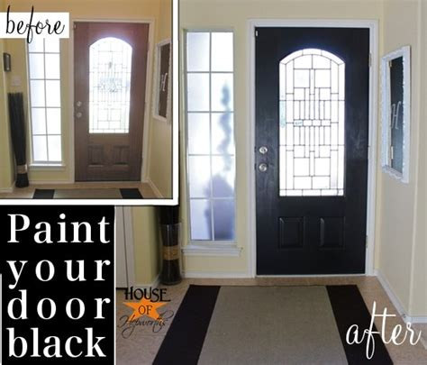 painting front door black black painted front door and it wasn t an epic fail