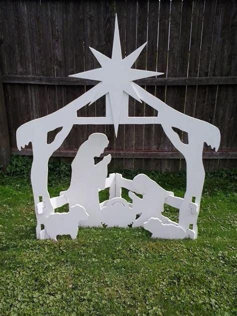 nativity decorations outdoor outdoor nativity outdoor wood yard