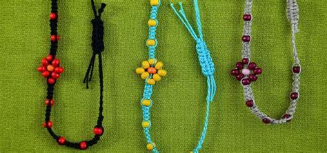 how to make macrame jewelry how to make a macrame bracelet with flower 171 jewelry