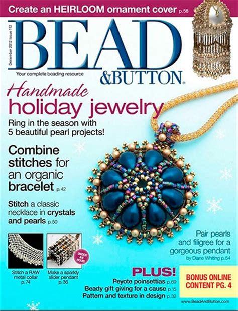 button magazine bead button 112 december 2012 187 free pdf magazines