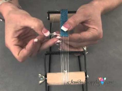 how to make a bead weaving loom how to work with a bead loom