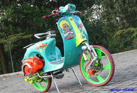 Modifikasi Motor Vespa Indonesia by Plus Minus Modifikasi Vespa Ring 17 Info Sepeda Motor