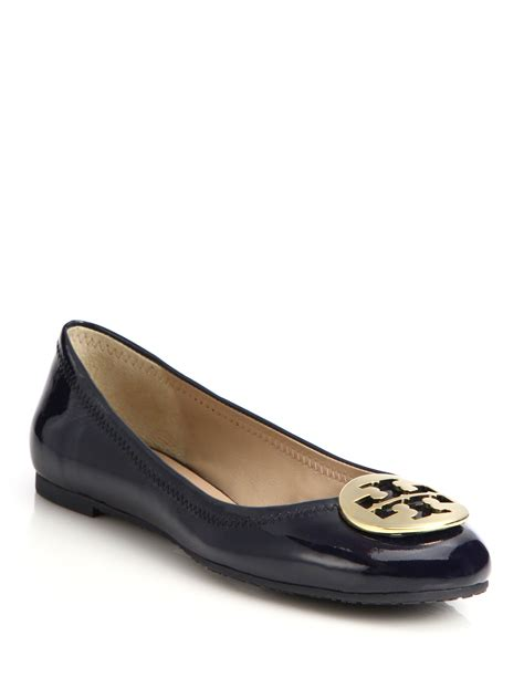 patent leather ballet flats burch reva patent leather ballet flats in lyst