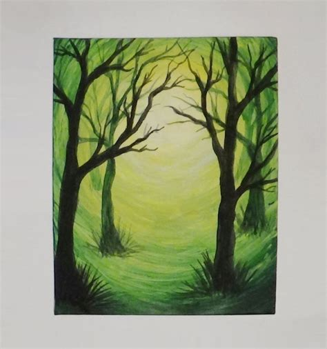 acrylic painting forest tutorial acrylic painting of trees for beginners www imgkid