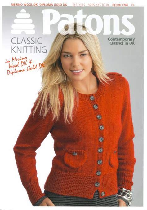 knitting pattern books patons contemporary classics dk knitting pattern book 3746