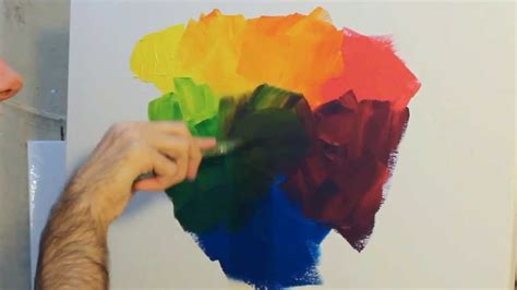 how to paint using acrylic paint on canvas how to paint using and mixing primary colours with