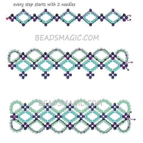2 bead patterns free pattern for bracelet santorini magic